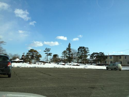 岩出山。以外に雪がない